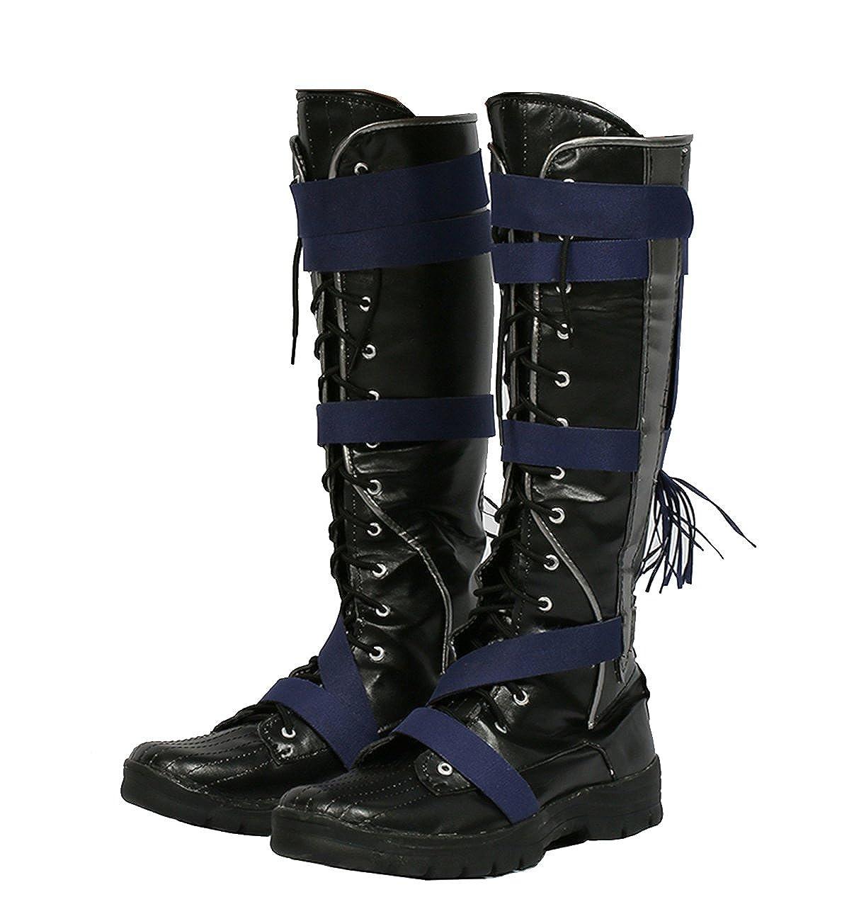 6bae86b0e056 Hot Movie Doctor Cosplay Strange Shoes Black PU Knee Boots Halloween