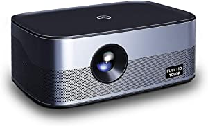 Native 1080P Full HD Projector with Android,5000 lumens,±40°Keystone Correction,WiFi,Bluetooth,Support 4K(H.265),Smart Home Cinema Video Projector,300