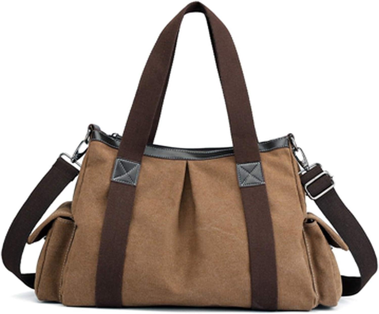 Women Large Pocket Tote WomenS Handbag Shoulder Bag Casual Crossbody Bag Canvas Capacity Bags For Women Gray
