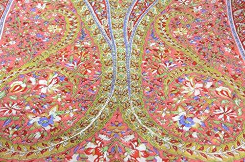 Classic Gamme Paisley Foulard Longue 100% Soie de Mûrier Motif Sehgal Scarlet de Pashmina & Silk