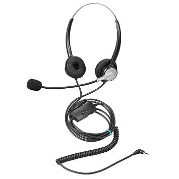 Ymate - Auriculares inalámbricos de 2,5 mm con micrófono con cancelación de ruido y