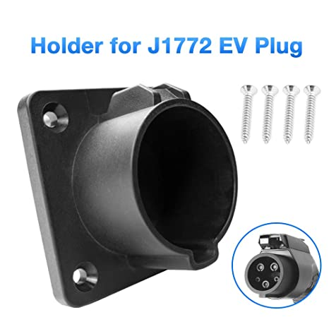Ford Fusion Charger Nissan Leaf Fiat BougeRV EV Charger Holster SAE 1772 EV Charger Holder Wall-Mount Electric Vehicle Connector Nozzle Holster Dock for Chevy Volt BMW