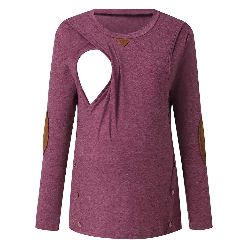 SCHOLIEBEN Premam/á Vestido Camiseta Sudadera Abrigo Pijamas Sra Multifunci/óN Madre Embarazada Lactancia Superior Cosido Oto/ñO E Invierno Moda