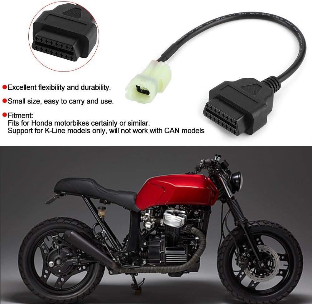 Ladieshow OBD2 /à 3 broches c/âble adaptateur de Diagnostic pi/èces de d/étection de d/éfaut de moto adapt/ées aux motos