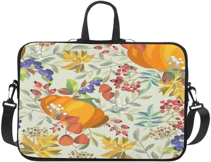 "Autumn Maple Leaves Fruits Floral Print Laptop Sleeve Laptop Cover for 17""/15""/13"" MacBook Pro"
