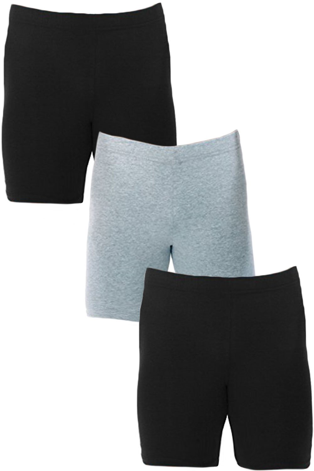 Men's Extreme Core-Champion True Double Dry Compression Short (Small, 3 Pack Black/Black/Grey)
