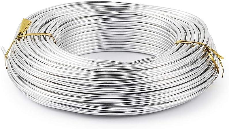 10 m Fuchsia Sescha Fil en aluminium 1,5 mm