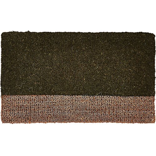 Tag- Two-Tone Coir Mat, Decorative All-Season Mat for the Front Porch, Patio or Entryway, - Door Jute Mats
