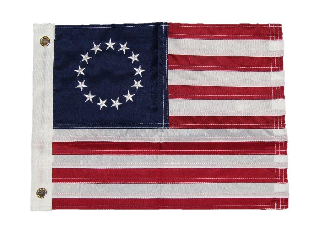 最初の  12 12 x x18 18刺繍縫製Betsy Ross 210d SolarMaxナイロンフラグ12