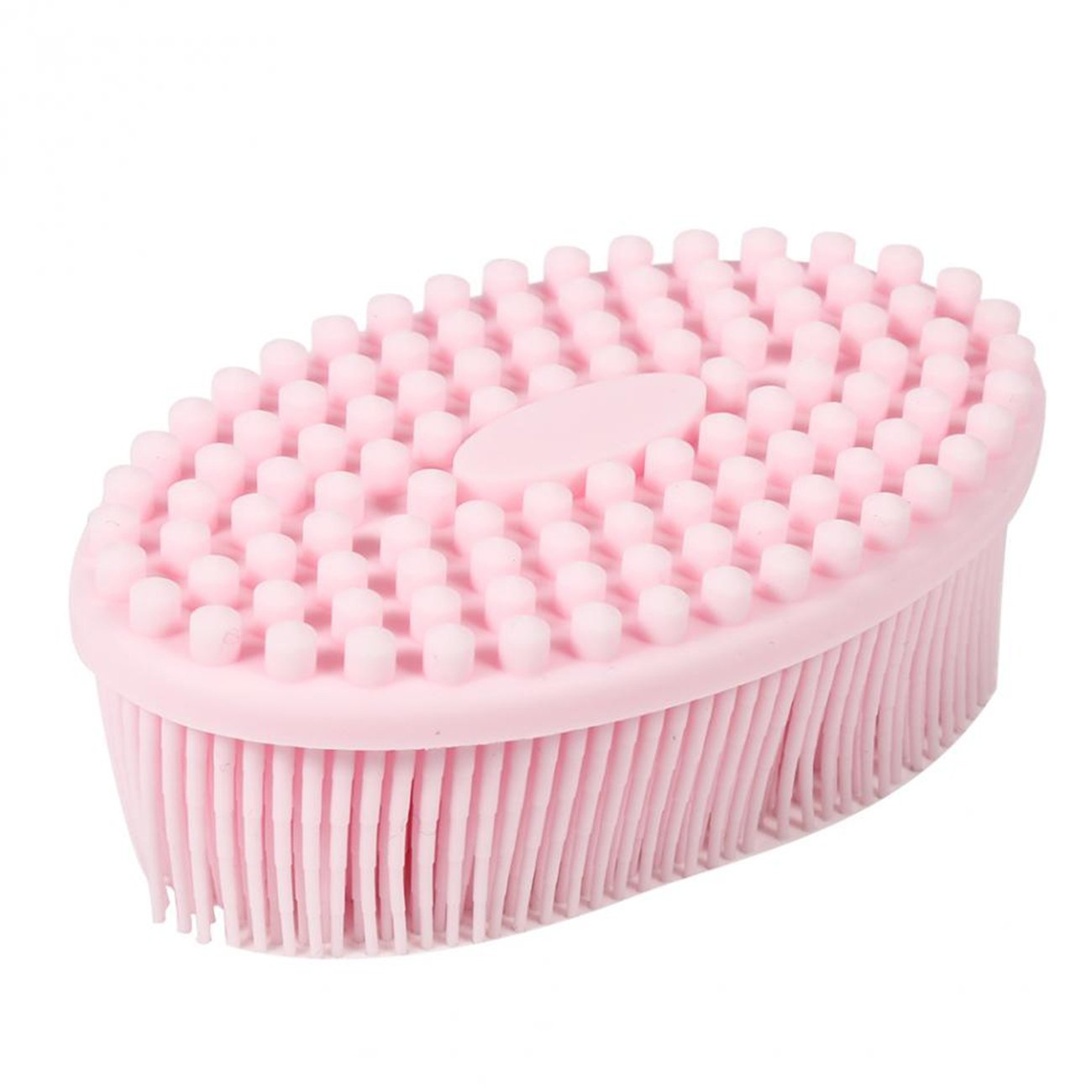 100% Silicone Bath & Shower Loofah Brush For Face & Body Gentel Scrub Skin Exfoliation-Skin Health Beauty Care-Cellulite Treatment--Massaging Brush Long Bristle GoWorth