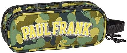 Estuche escolar doble ovalado, 21 cm, color caqui Paul Frank: Amazon.es: Oficina y papelería