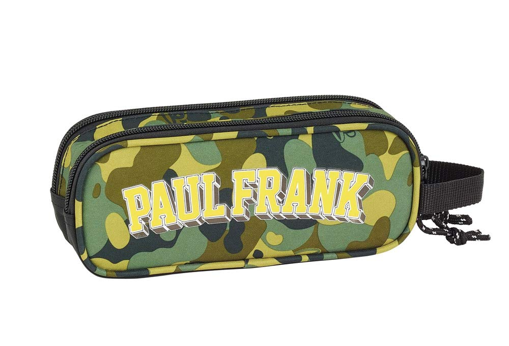 Estuche escolar doble ovalado, 21 cm, color caqui Paul Frank ...