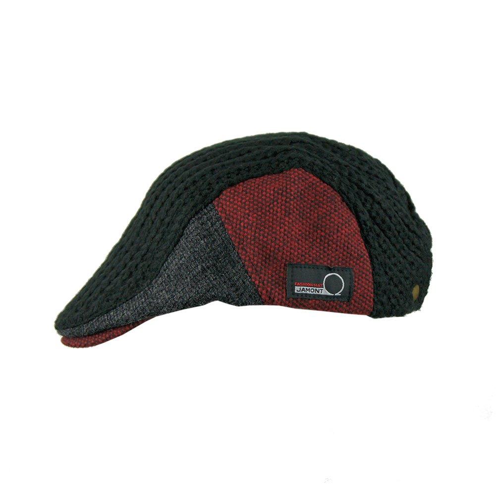 6f2e692aa5d89 JAMONT Winter Warm Flat Cap duckbill Hat newsboy IVY Irish Cabbie Scally Cap  ( 8228 Black) at Amazon Men s Clothing store