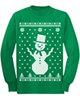 teestars childrens big snowman ugly christmas sweater cute xmas long sleeve kids t shirt - Childrens Ugly Christmas Sweaters