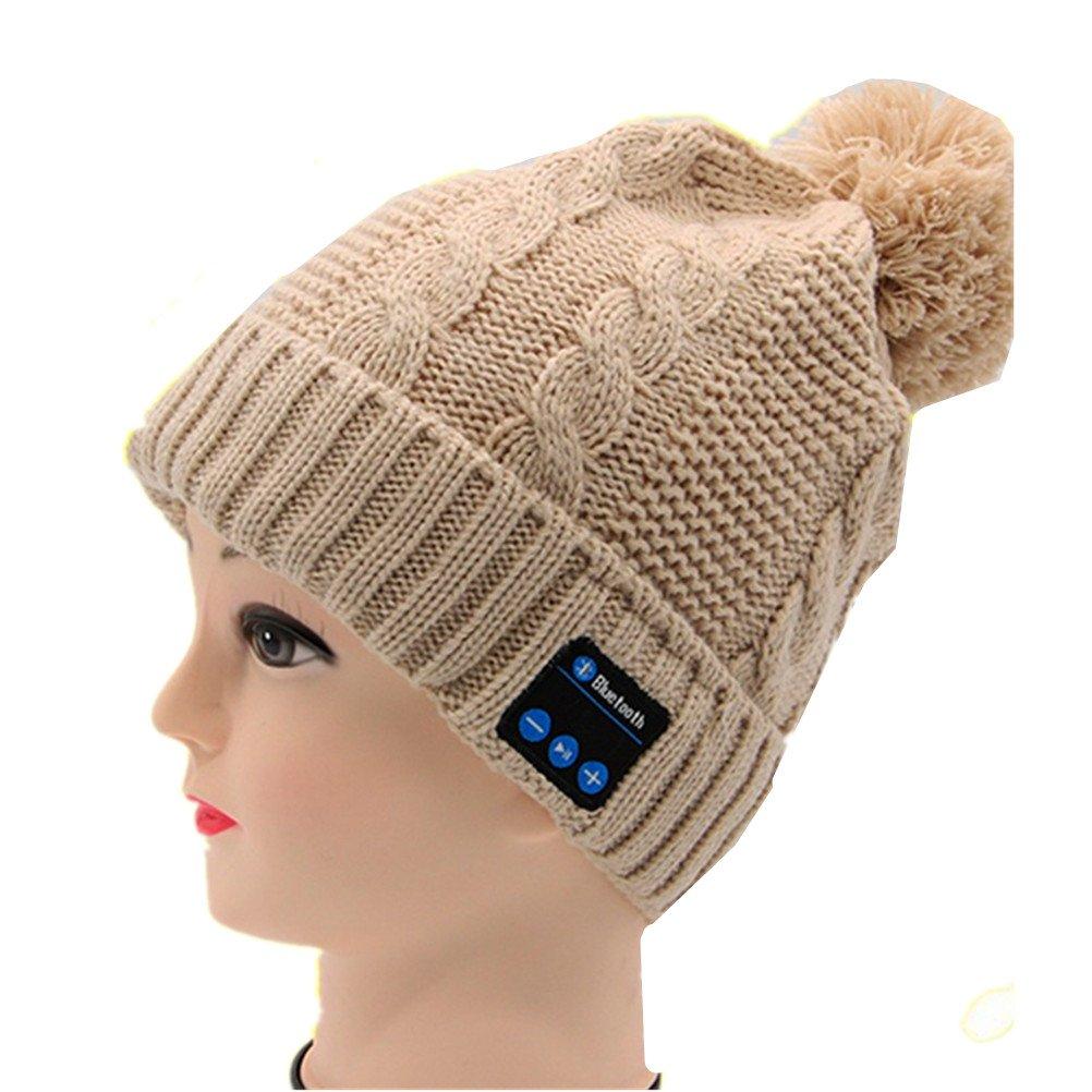 ANBOVER Womens Wireless Beanie Smart Winter Knit Hat Bluetooth Musical Headphones Earphones Unique Christmas Tech Gifts AN17111602