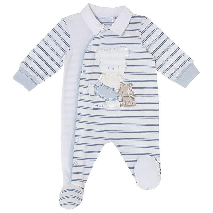 Chicco - Pelele - Básico - para bebé niño azul y blanco 44 cm: Amazon.es: Ropa y accesorios