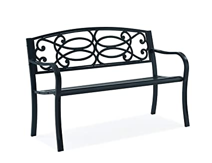 Awe Inspiring Fineway Stylish 2 Seater Cast Iron Garden Outdoor Back Park Bench Seat Furniture Loveseat Conservatory Patio Lawn Or Garden Seat Scroll Design Ibusinesslaw Wood Chair Design Ideas Ibusinesslaworg