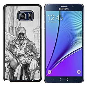 Stuss Case / Funda Carcasa protectora - Hombre que lleva la mujer Héroe Arte Dibujo Lápiz - Samsung Galaxy Note 5 5th N9200