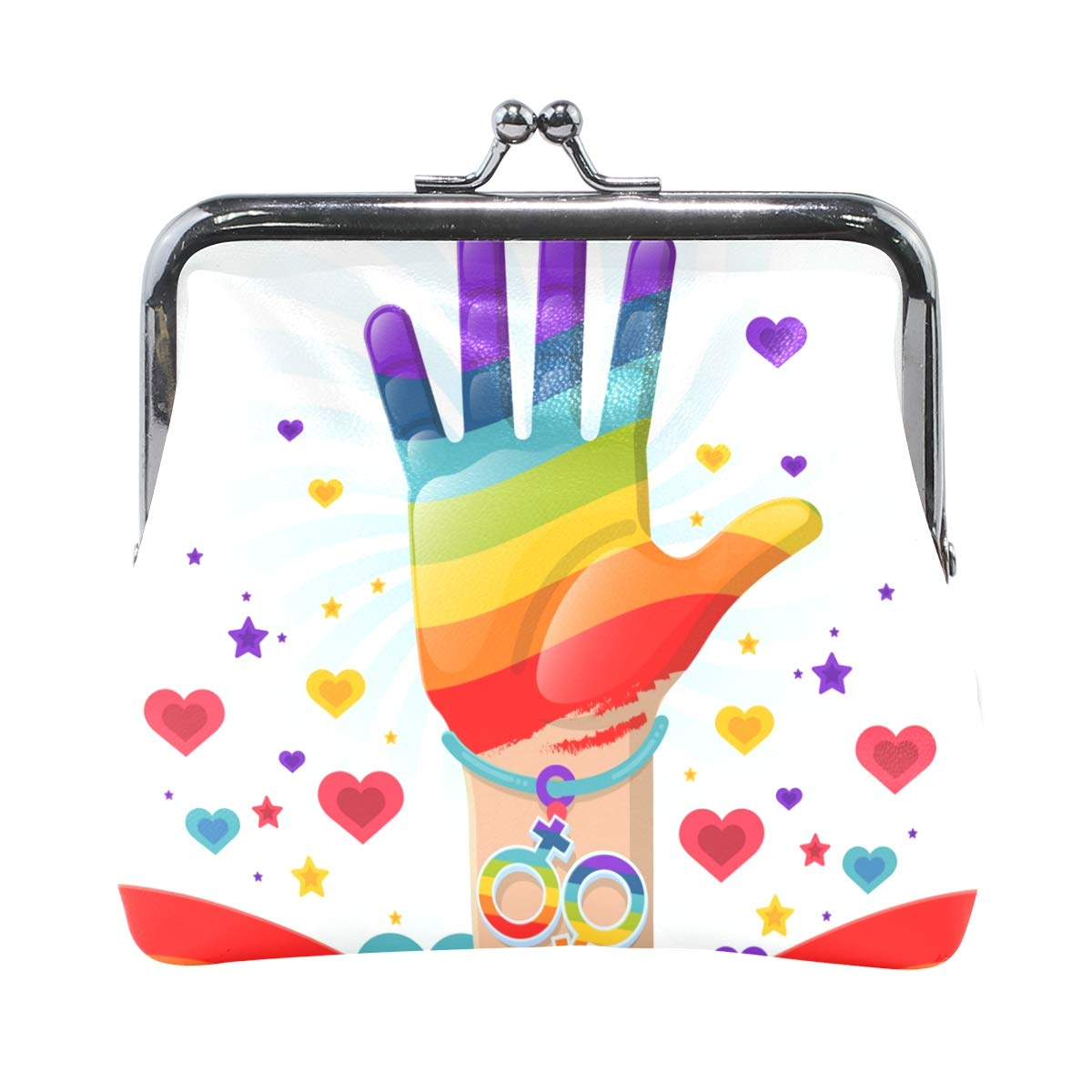LALATOP Pride Day Celebration Background Womens Coin Pouch Purse wallet Card Holder Clutch Handbag