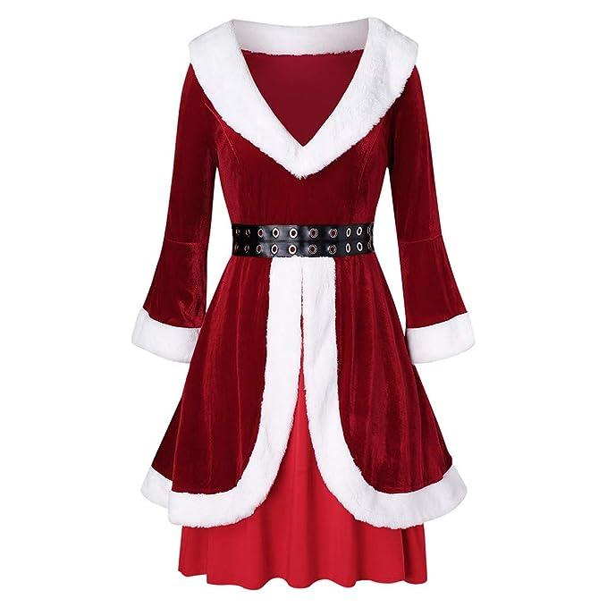 Disfraz De Navidad Mujer Vestido Traje De Navidad Mujer ...