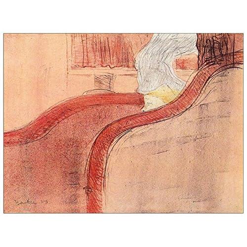 ArtPlaza Toulouse-Lautrec - The small loge Panneau Décoratif, Bois, Multicolore, 80 x 1.8 x 60 cmAS92628