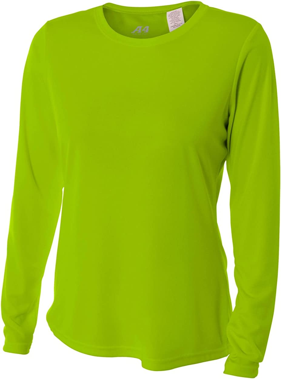 A4 Women's Cooling Performance Crew Long Sleeve | Moisture-Wicking |