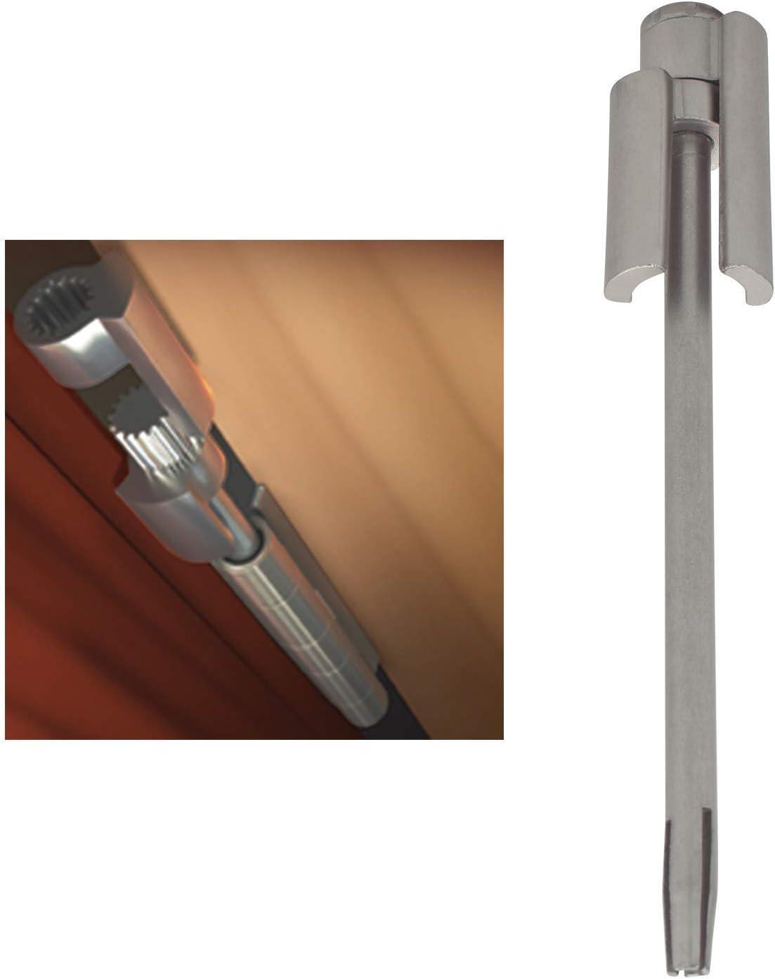 """Nuk3y Door Saver 2 II Hinge Pin Stop Fits All 3"""" to 4-1/2"""" Residential Hinges (Satin Nickel)"""