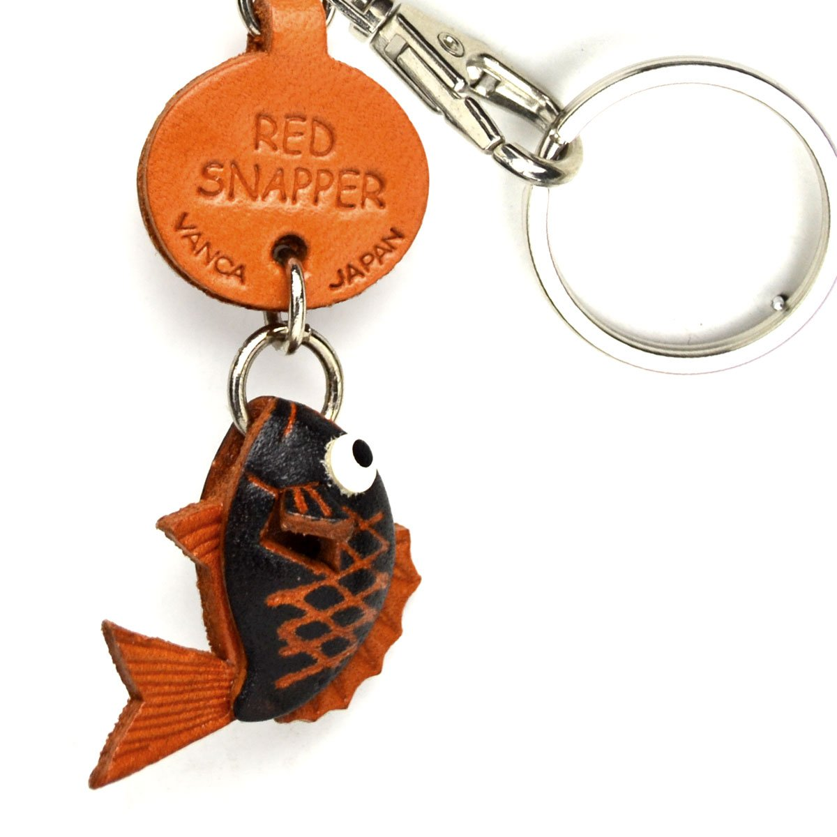 Red Snapperレザー魚/ SeaAnimal SeaAnimal Small Small Keychains VANCA VANCA craft-collectibleキーリング日本製 B008DPWFNE, BBR-baby 1号店:6b136c80 --- awardsame.club