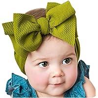 Diademas Bebe Niña,SHOBDW Elásticas Colorful Bows Toddler Kid Bebé Niñas Flores Nudo Turbante Accesorios Para La Cabeza…