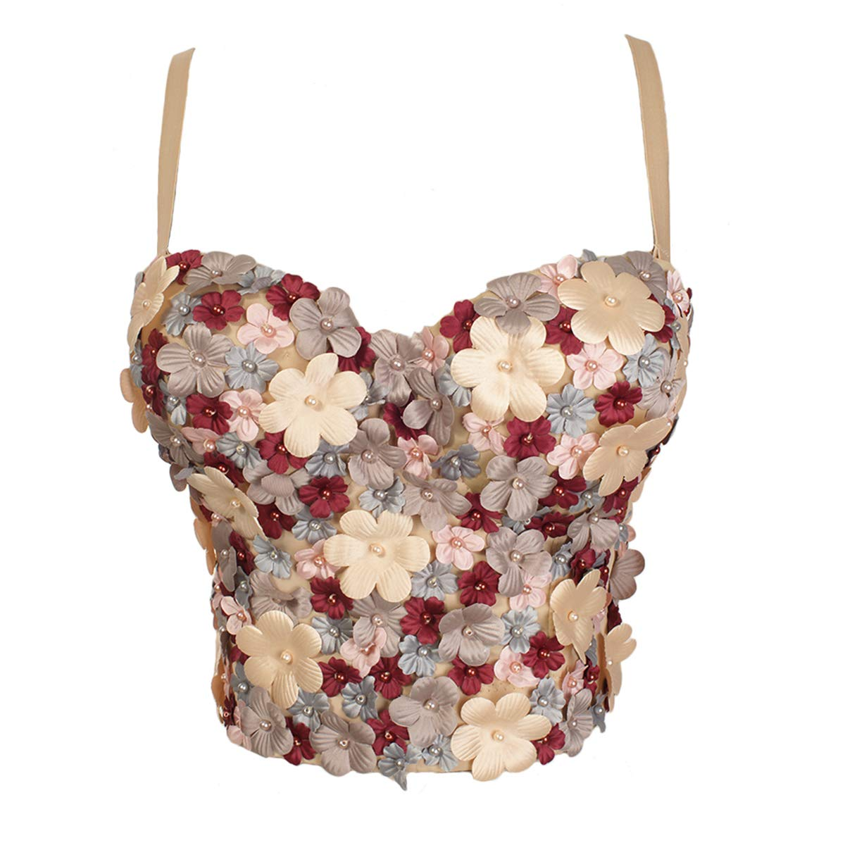 94cb5d8a8a Shesmoda appliques floral beads push up bralet camis womens jpg 1200x1200  Beaded bustier calypso corset