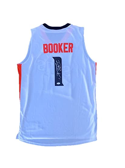 hot sale online 3bd31 a6153 Autographed Devin Booker Jersey - Home White - JSA Certified ...