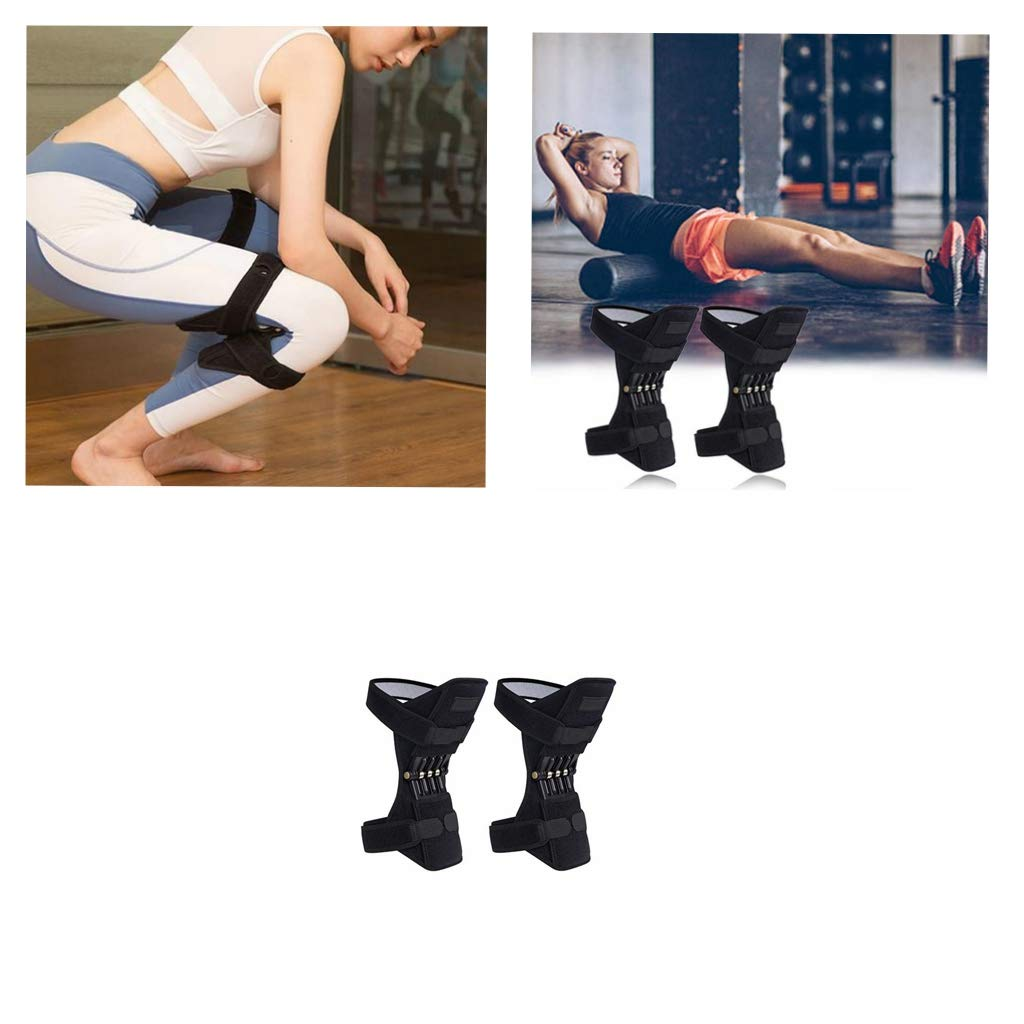 Kecar Joint Knee Brace Support Pads with Powerful Rebound Spring Force Adjustable Best for Arthritis Sports Running Basketball