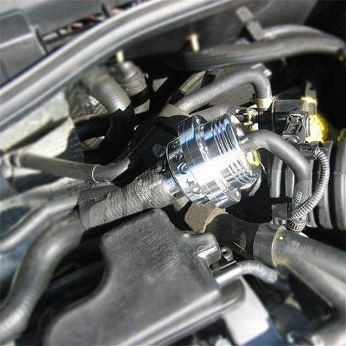Pretty-jin Blow Off Valve vía Burbujas Válvula Turbo Bov Aluminio Bov Aluminio Válvula Doble Pistón Turbo Válvula de sobrepresión la Boca Válvula - 25 mm: ...