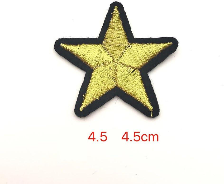 10x Chytaii Patch Thermocollant Brod/é Forme Etoile Dor/é Autocollant D/écoration de V/êtements Accessoires de Couture DIY