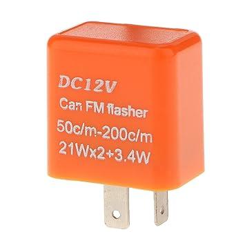 2pin Corrección Intermitente de Relé Electrónico para Lámpara de Señal Vuelta LED Flash Hiper 12V: Amazon.es: Coche y moto
