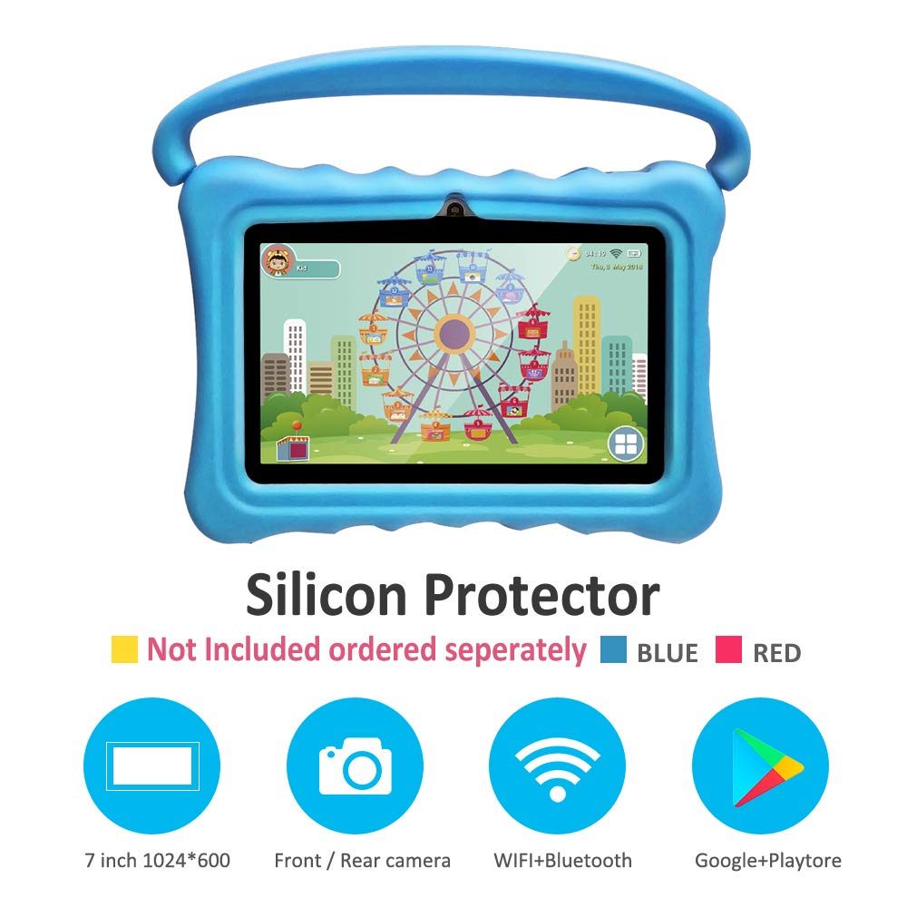 Kids Tablets pc 7 Inch Android Quad Core Tablet for Kids Learning Tablet with WiFi Dual Camera IPS Safety Eye Protection Screen 1GB 8GB Storage