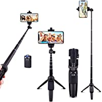 Ottertooth Selfie Stick Tripod, 102 cm Portable Extendable All in One Selfie Stick with Wireless Remote, Compatible with…