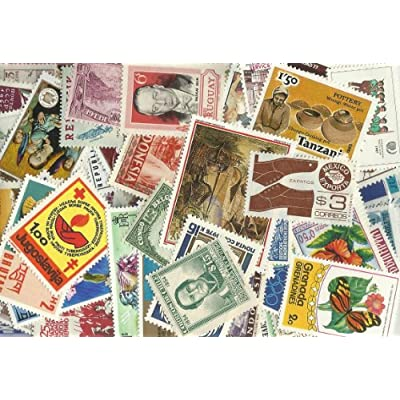 Lot of 50 Pieces Worldwide Collectible Stamp Collection: Toys & Games