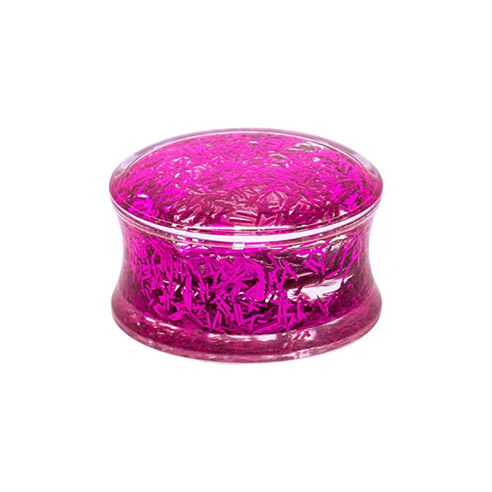Blue Banana Body Piercing Dilatación Acrílico Glitter Ear Plug (Rosa) - 10mm (Calibre/Grosor): Amazon.es: Joyería