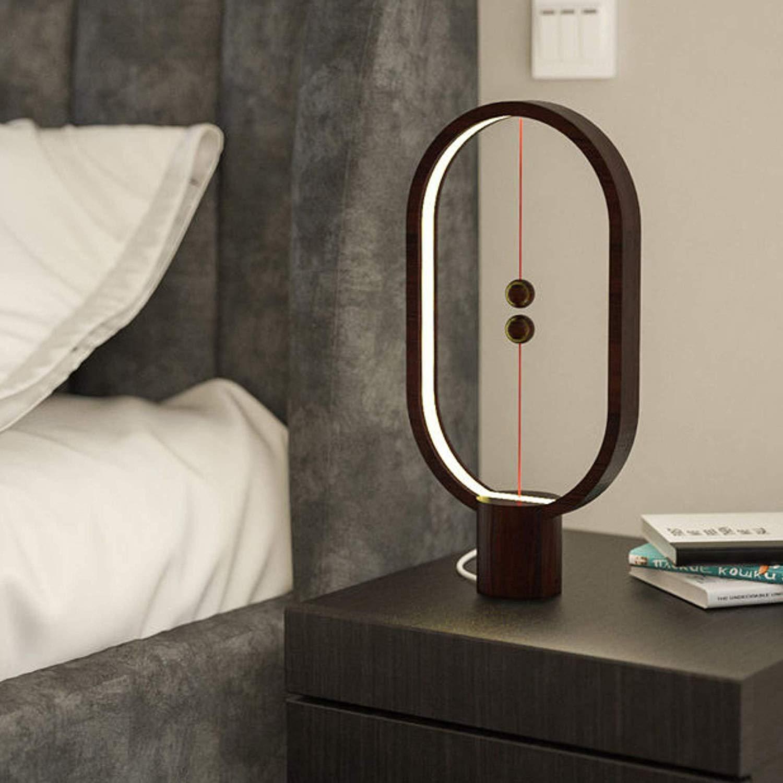 Heng Balance Lampe, Ellipse Magnetic Mid-Air Mid-Air Mid-Air Switch USB Powerot LED Lampe, Warm Eye-Care LED-Lampe, Nachtlampe, Tischlampe, Dekoration für Wohnzimmer-Büro,schwarz B07LFB25NJ | Clever und praktisch  d3daba