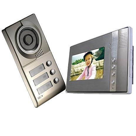amazon com cusam 7 inch tft lcd color monitor 4 wires video door rh amazon com tft led color monitor installation tft led color monitor installation