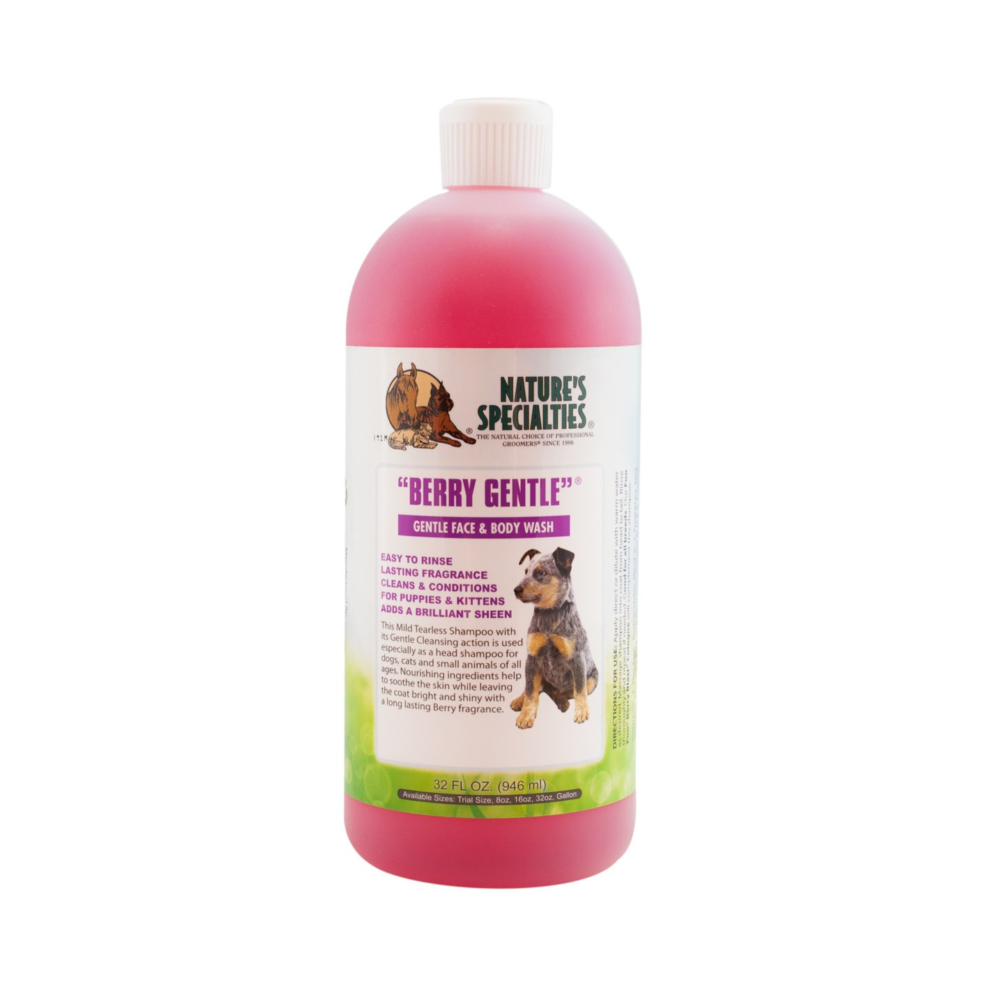 Nature's Specialties Berry Gentle Pet Shampoo, 32-Ounce