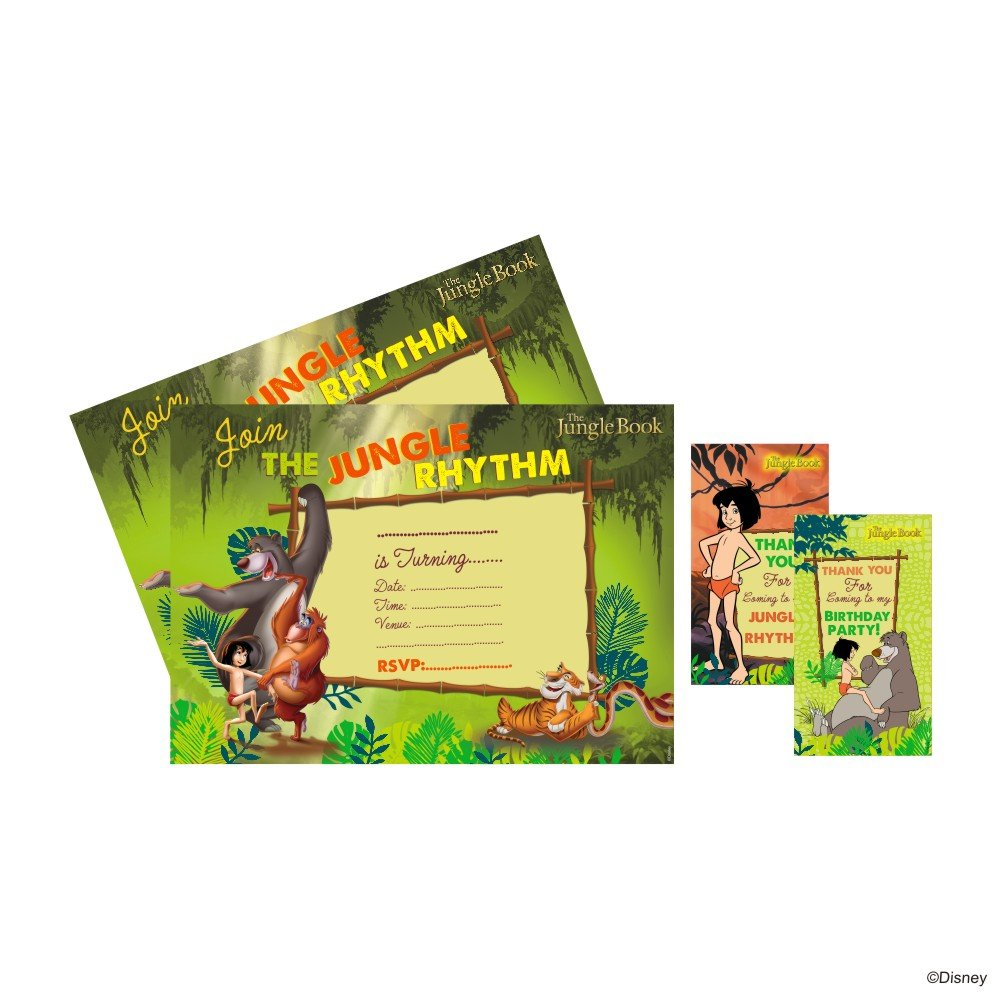 graphic regarding Disney Printable Envelopes named Disney The Jungle Guide Occasion Invitation Combo - 20 Piece