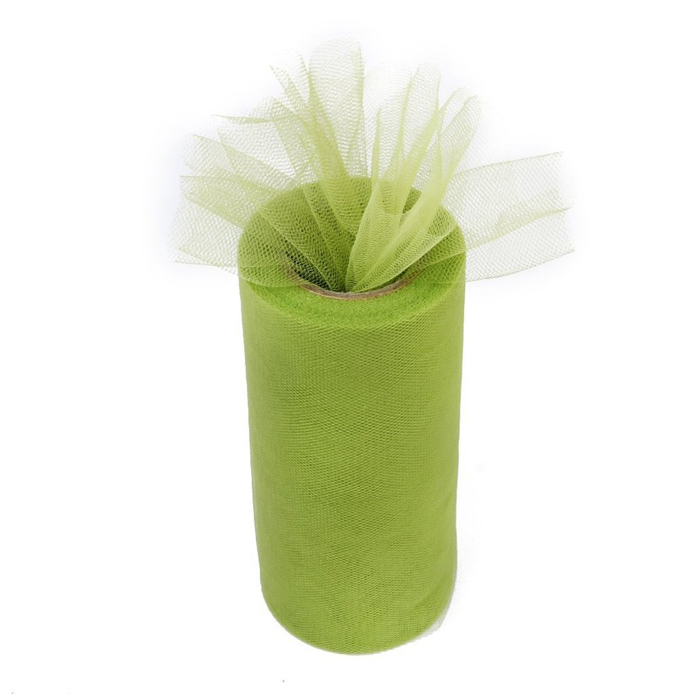 Amarillo 15cm Toyvian Tutu Ribbon Roll Tulle Craft Roll para DIY Decoraci/ón de Boda 22m