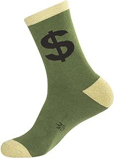 product image for Dollar Cash Sign Crew Socks Novelty Unisex Hosiery