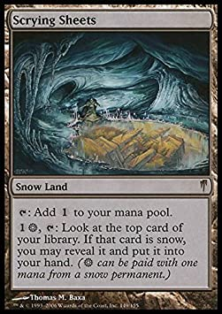 Coldsnap ** Scrying Sheets ** Mtg Magic EX//SP