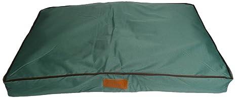 Ellie-Bo cama para perros, apta para jaulas, impermeable, color verde