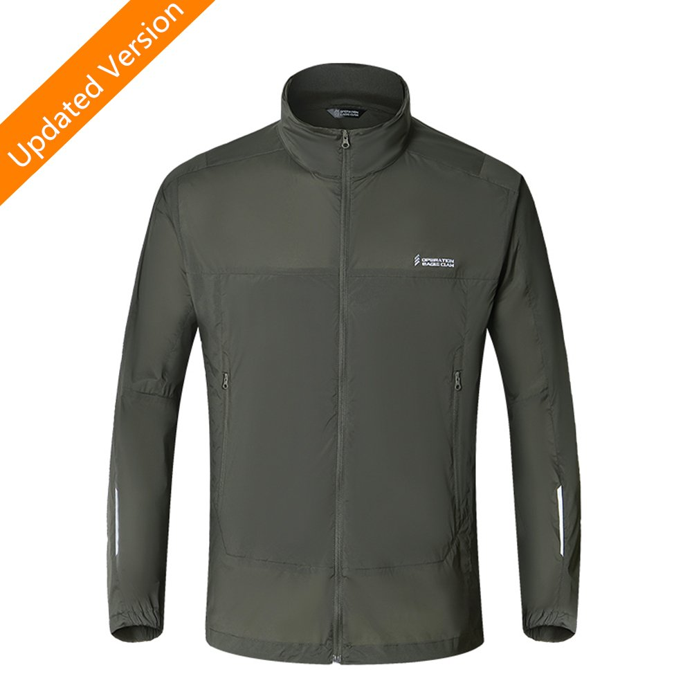 Eagle Claw Men's Lightweight Cycling Sun Protection Jacket Windbreaker Quick Dry Waterproof Skin Coat