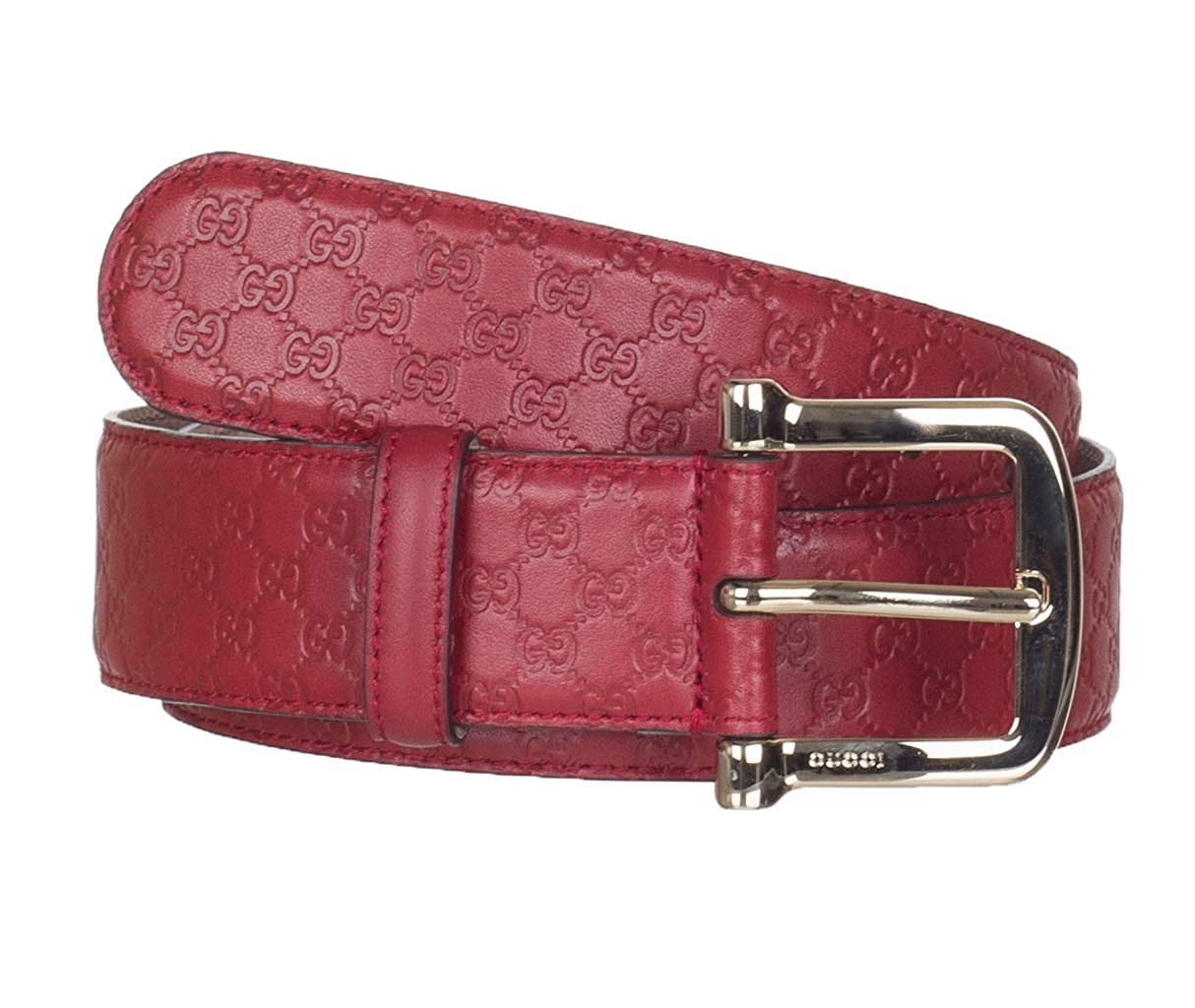 5762e57cbc2ac 100% Leather Made in Italy Red 100% leather. Gold Tone Buckle 1.5