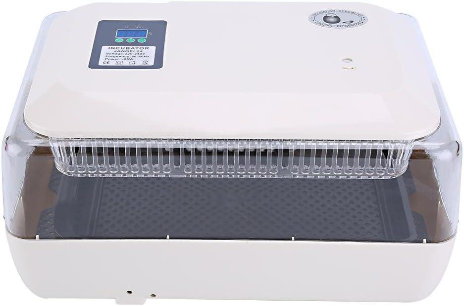 Zerone Incubateur 24-Oeufs Intelligent Automatique Incubateur Hatcher pour L/éclosion Poulet Canard Oiseau Caille Volaille AC 220V EU Plug